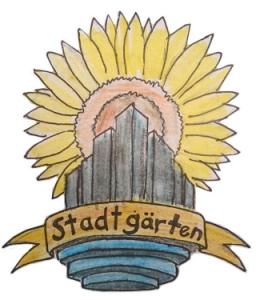Hilfsgesuch: Sonnenblume und Hochhäuser